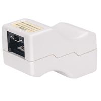 Intellinet Inline Coupler, Cat6, UTP, Locking Function, White - Wit