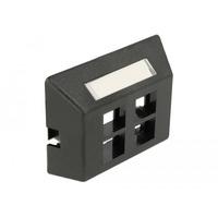 DeLOCK Keystone Outlet 4 Port for furniture installation - Noir