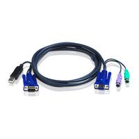 Aten 2L5506UP KVM kabel - Zwart