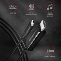 Axagon RVC-HI14C USB-C > HDMI 1.4 cable 1.8m - Zwart