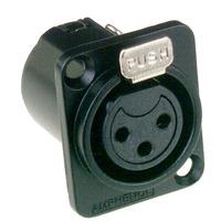 Amphenol 3P, XLR Elektrische standaard connector - Zwart