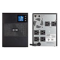 Eaton 750VA, 525W, 1 x NEMA 5-15P In, 6 x NEMA 5-15R Out, RS-232, USB, Tower UPS - Zwart