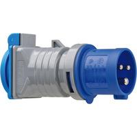 Brennenstuhl Adapter veiligheidscontact 230 V/CEE 16 A IP44 Elektrische fitting koppelaars - Zwart, Grijs