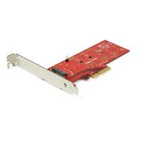 StarTech.com Adaptateur PCI Express x4 vers SSD M.2 PCI-E Adaptateur Interface - Rouge