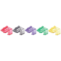 Intellinet RJ45 Repair Clip, For RJ45 modular plug, Mixed Transparent Colours (Red, Yellow, Green, Violet and .....