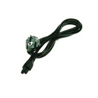 2-Power C5 (Cloverleaf) Power Lead With EU Plug Cordon d'alimentation - Noir