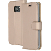 Accezz Wallet Softcase Booktype Samsung Galaxy S7 - Goud / Gold