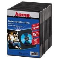 Hama DVD Slim Box 25, Black - Noir