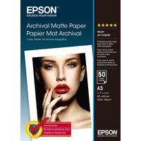 Epson Archival, DIN A3, 189g/m² Papier photo - Blanc