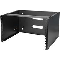 StarTech.com 6U 36 cm diep serverrack wandmontage beugel voor patchpanelen Stellingen/racks - Zwart