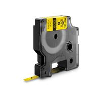 DYMO IND Heat-Shrink Tube Labels, 6mm x 1.5m Labelprinter tape - Zwart op geel