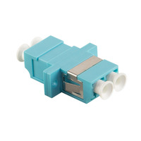 LogiLink LC/LC Duplex Adapter, Multimode Adaptateurs de fibres optiques - Turquoise