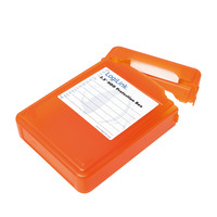 """LogiLink HDD Protection Box for 3.5"""" HDDs, Orange"""