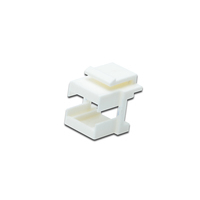 Digitus LC keystone frame for patch panel color white Patch panel accessoire - Grijs