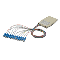 Digitus FO splice cassette with 12 colored pigtails SC (UPC), MM OM3 50/125 µ, LSZH Glasvezel-adapters
