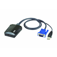 Aten Adaptateur chariot de sécurité console KVM USB pour ordinateur portable Câbles KVM - Noir,Bleu