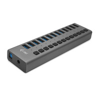 I-tec USB 3.0 Charging HUB 13port + Power Adapter 60 W Chargeur - Gris