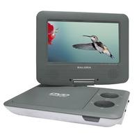 """Salora Een 7"""" (18CM) portable DVD speler met USB en SD en automontageset Ontvanger - Grijs,Wit"""