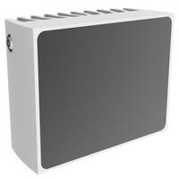 Mobotix 19W LED, 45°, 80m, 860nm, IP67, 115x51x90mm, Grey/White Infrarood lamp - Grijs,Wit