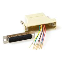 ACT Monteerbare heavy duty verloop adapter D-sub 25-polig - modulair Kabel adapter - Grijs