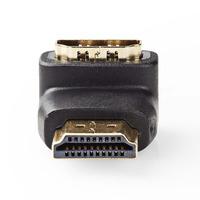 Nedis HDMI™-Adapter, HDMI™-Connector - HDMI™ Female, 90° Gehoekt, Zwart Kabel adapter