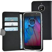Azuri Walletcase magnetic closure & cardslots - zwart - Motorola Moto G5S Plus