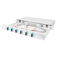 Digitus FO splice box, 1U, equipped, 6x SC DX, OM3 incl. splice cassette, colored pigtails, couplers .....