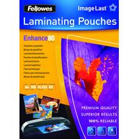 Fellowes ImageLast 80 micron glanzend A4-100pk Lamineerhoes - Transparant