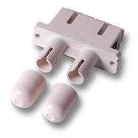 ACT Fiber optic SC-ST duplex adapter Glasvezel-adapters - Beige