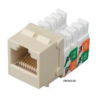 Black Box Prise CAT5e GigaBase2 - Beige,Blanc