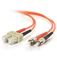 C2G 2m SC-ST 50/125 OM2 Duplex Multimode PVC Fibre Optic Cable (LSZH) - Orange Fiber optic kabel - Oranje