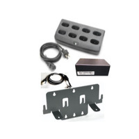 Zebra 8 Slot Charge only Cradle Kit with Wall Mount Bracket - Zwart