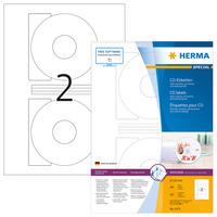 HERMA CD-etiketten wit Ø 116 A4 200 st. Etiket