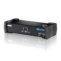 Aten Commutateur KVMP™ DVI/audio USB 2 ports Commutateur KVM - Noir