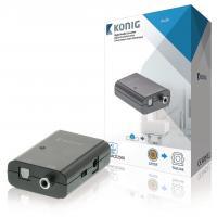 König , Digitale Audio Omvormer 1x S/PDIF - TosLink Female (Donkergrijs) Hardware
