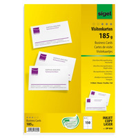 Sigel 15 x A4, 185 gsm, 85 x 55 mm, 150 pcs Visitiekaart - Wit