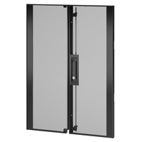 APC NetShelter SX 18U 600mm Wide Perforated Split Doors Black - Noir,Gris