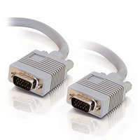 C2G 15m Monitor HD15 M/M cable - Gris