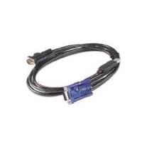 APC KVM USB, 3.6 m, 110 g Câbles KVM - Noir