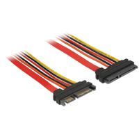 DeLOCK Extension cable, SATA 6 Gb/s 22 pin plug, SATA 22 pin receptacle (3.3 V + 5 V + 12 V), 30 cm Câble ATA - .....
