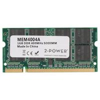 2-Power 1GB PC3200 400MHz SODIMM Memory Mémoire RAM