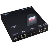 ROLINE KVM verlenging via Gigabit Ethernet, HDMI, USB, ontvanger - Zwart