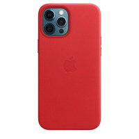 Apple Coque en cuir avec MagSafe pour iPhone 12 Pro Max - (PRODUCT)RED - Rouge