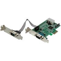 StarTech.com 2-poort Low Profile Native RS232 PCI Express Seriële Kaart met 16550 UART Interfaceadapter - .....