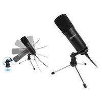 Sandberg Streamer USB Desk Microphone Microfoon - Zwart
