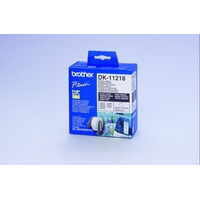 Brother DK-11218 Round Labels Etiket - Wit
