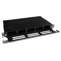 ACT Fiber panel High Density voor 5 MTP-MPO cassettes Patch panel accessoire - Zwart