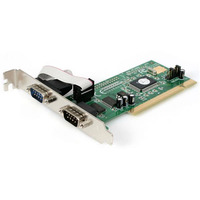 StarTech.com Carte PCI avec 2 Ports DB-9 RS232 - Adaptateur Série - UART 16550 Adaptateur Interface - Vert