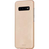 Azuri Metallic cover met soft touch coating - goud - voor Samsung Galaxy S10