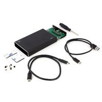 Ewent USB 3.1 Gen2 Type-C 2.5 inch HDD/SSD Enclosure Boites de stockage - Noir